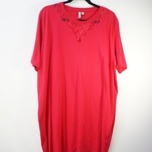 ASOS T-Shirt Dress With Lace Inserts Size 18